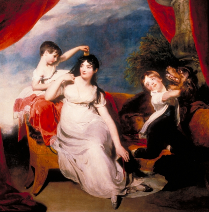 Mrs Henry Baring and children by Sir Thomas Lawrence (1817)