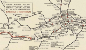Map issued with the London Electric Railway Co. Ltd. prospectus (1930)