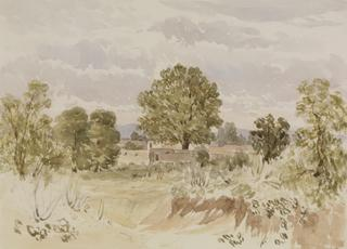 LANDSCAPE [WITH CEMETERY?] by White, George