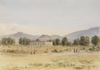 LANDSCAPE WITH CEMETERY by White, George