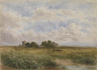 MARSHLAND WITH CATTLE by White, George