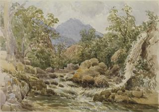 ORIZAVA. LANDSCAPE WITH WATERFALL by White, George