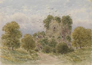 RUINED TOWER AMID TREES by White, George