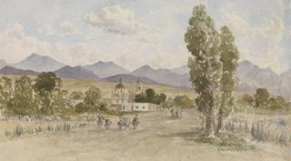 TACUBAYA. CHURCH BUILDINGS IN A LANDSCAP by White, George