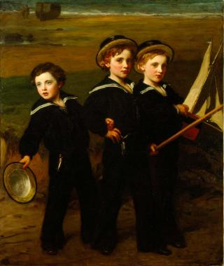 JOHN, CECIL AND EVERARD BARING by Sant, James